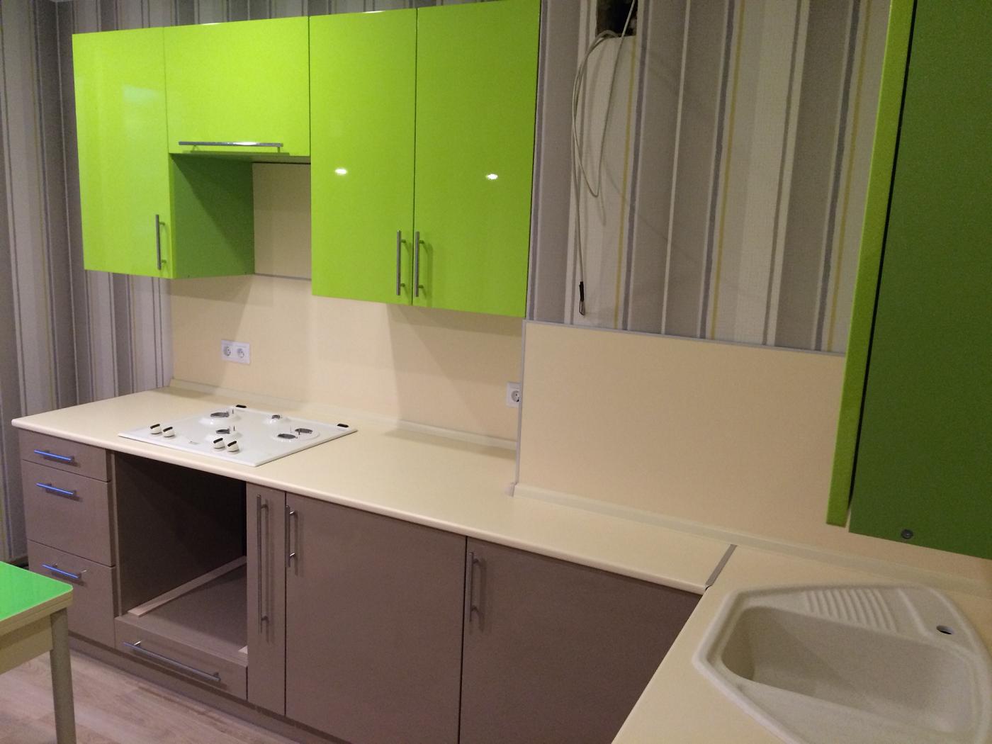 Кухня цвета белый глянец - заказать недорого в Москве