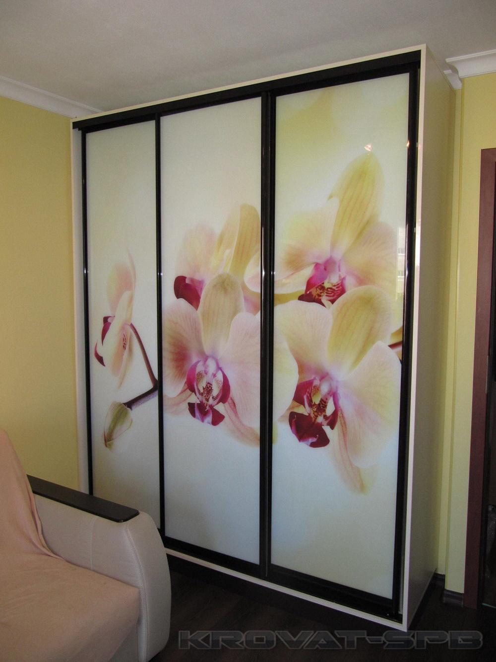 Шкаф-купе Цветы - корпусные Галерея по мебели на заказ и 74